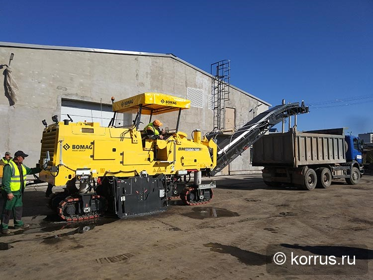 запущена в работу новая гусеничная дорожная фреза BOMAG BM1300/30-2